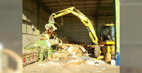 Pressage des matières recyclables