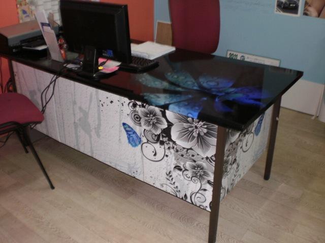 habillage bureau en adhésif numérique