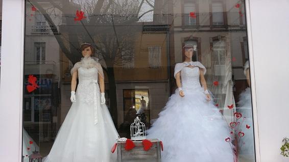 Vitrine de la Saint-Valentin - Au Royaume De La Mariée