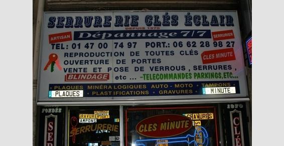Ouverture de porte claquée Paris