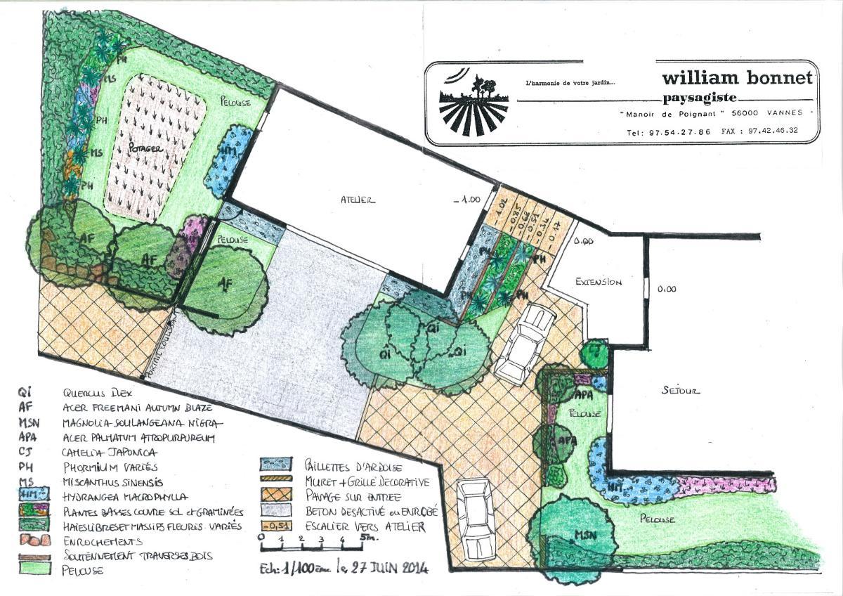 Plan de jardin - Paysagiste à Vannes (56)