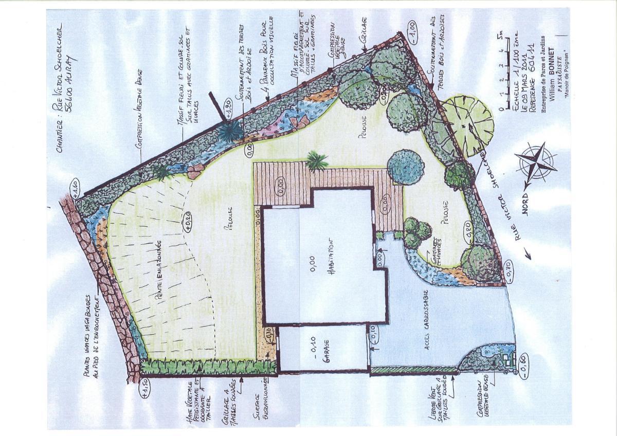 Plan de jardin à Vannes dans le Morbihan