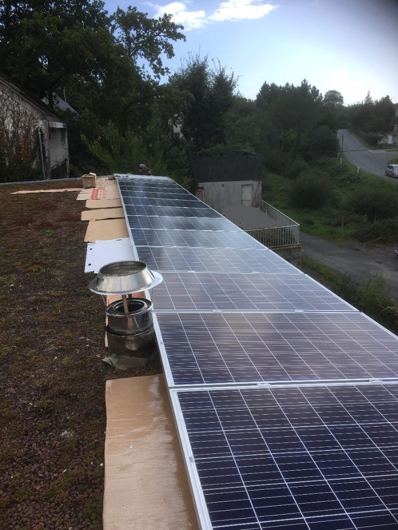Chantier Panneaux Photovoltaïque à Férel