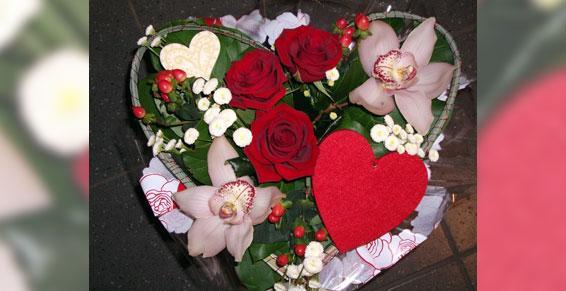 fleuristes - bouquet cœur
