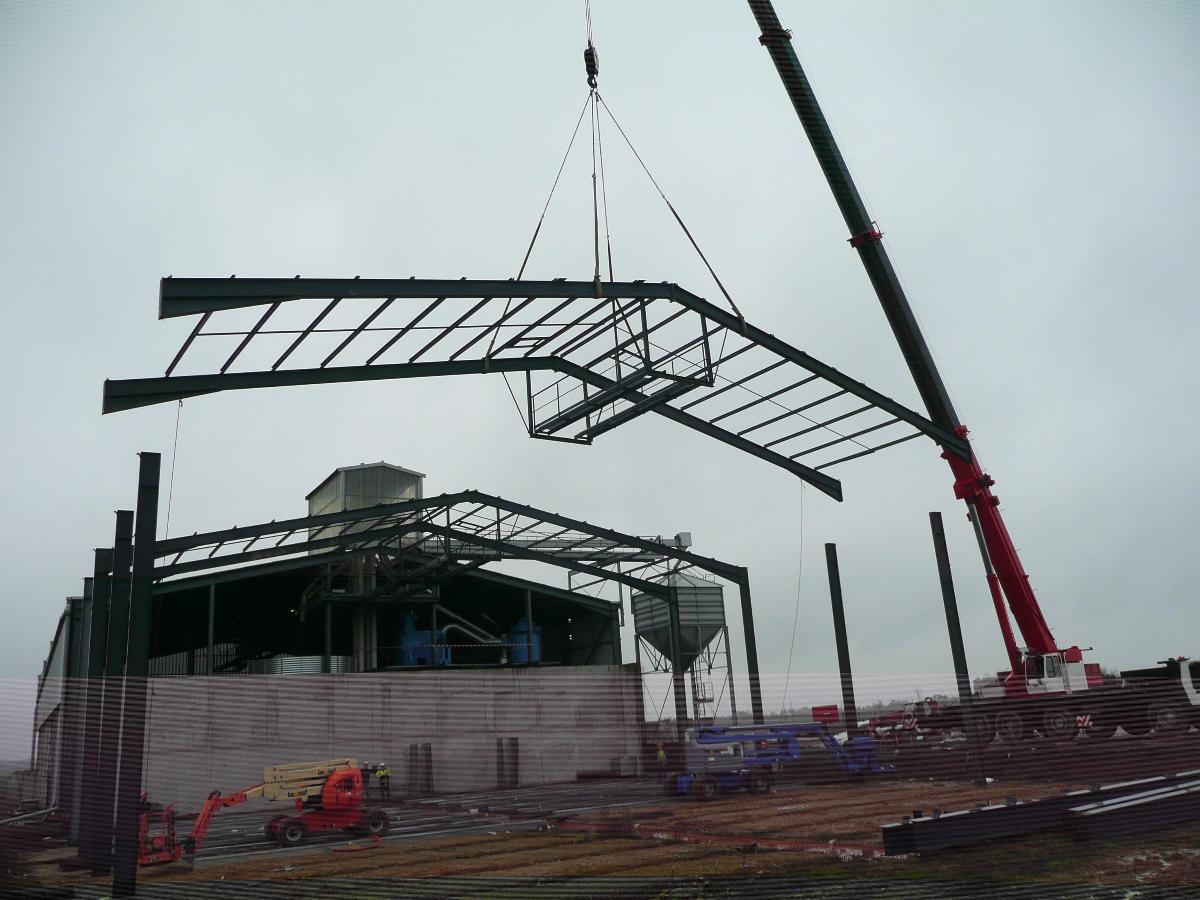 Manutention construction d'un bâtiment industriels - Rouen