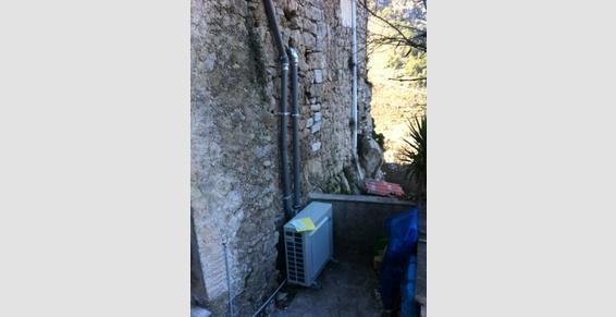 pompe a chaleur air/air - maison de village