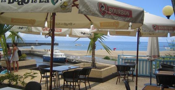 Terrasse du restaurant Le Grand Large à La Réunion