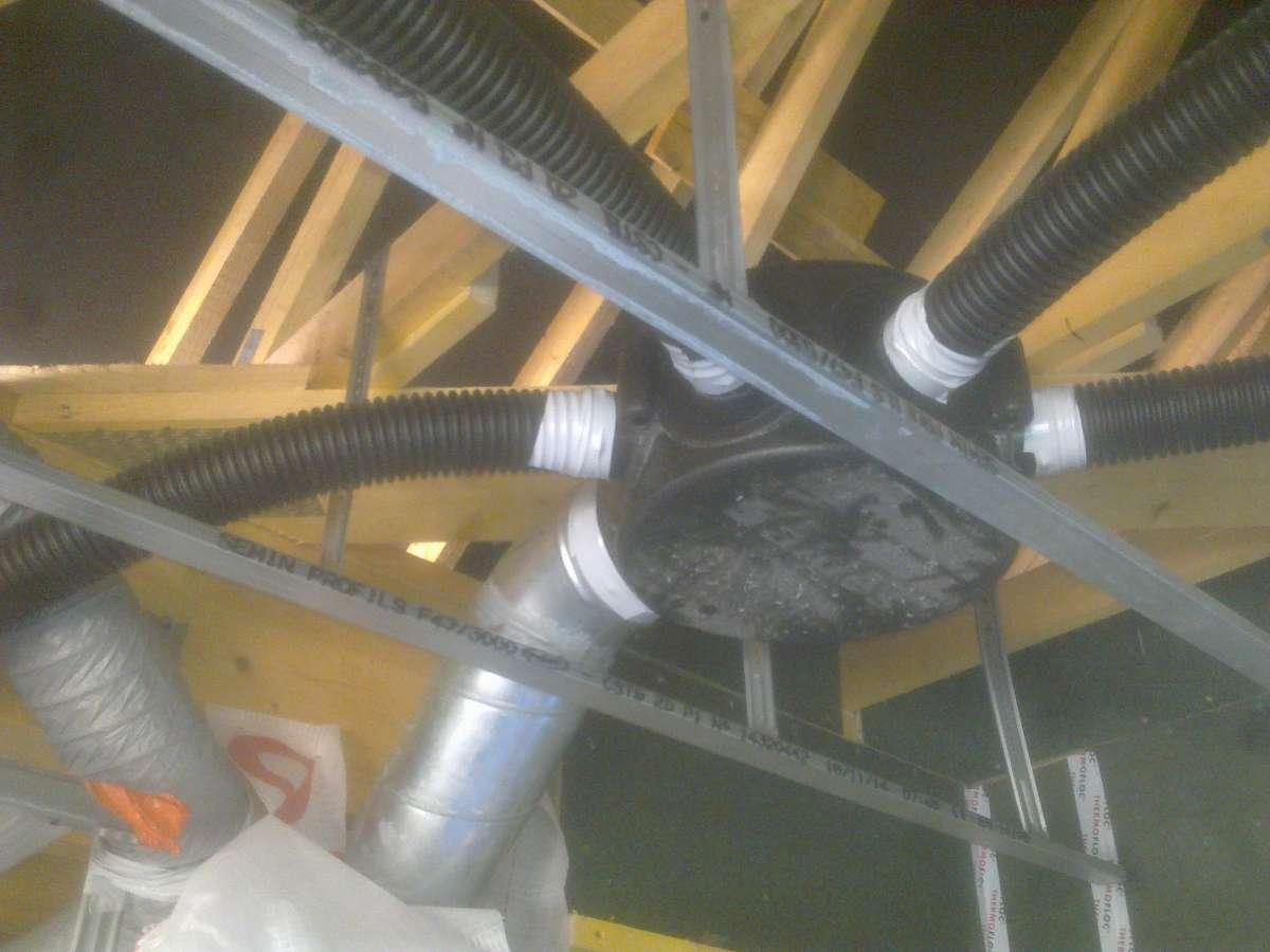 Réseau galva + souple de VMC double flux à Grainville-la-Teinturière
