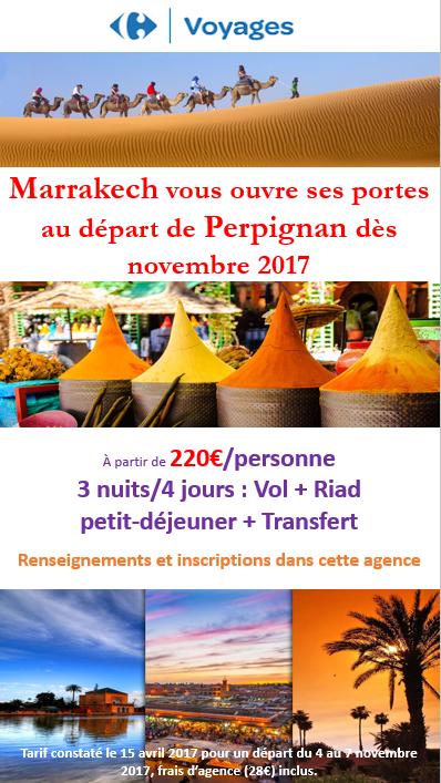 Marrakech au départ de Perpignan