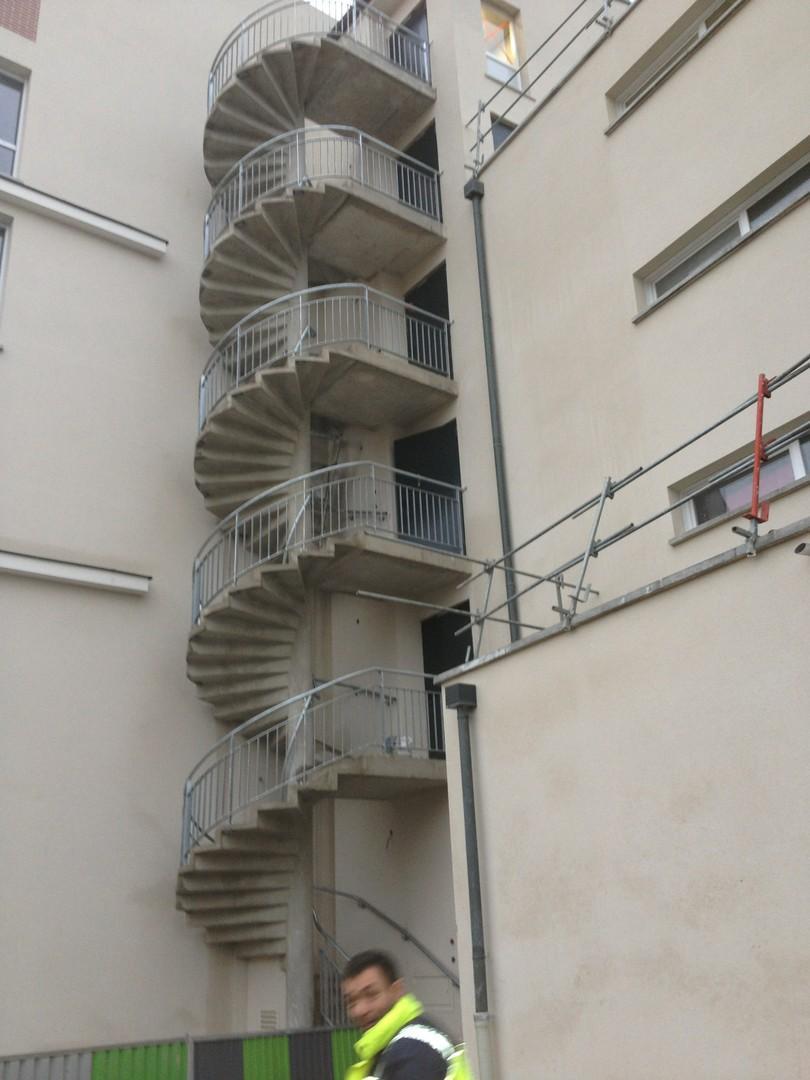 Escalier helicoidal - débillardé