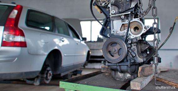 Garage automobiles - Levage moteur