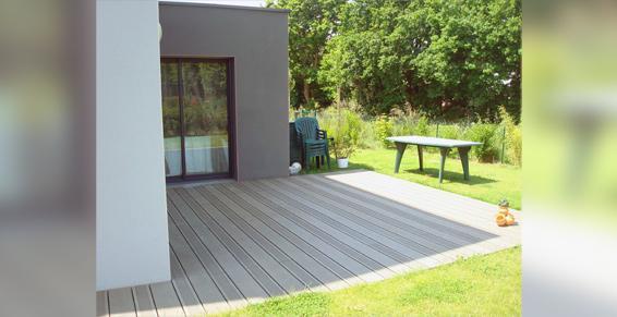 Vert Le Jardin à Vitré - Création de terrasse en bois