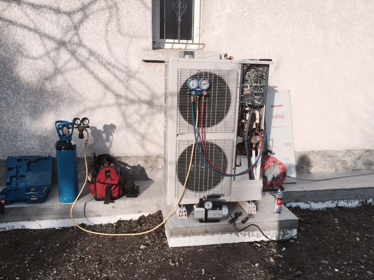 Mise en service climatiseur Francarville