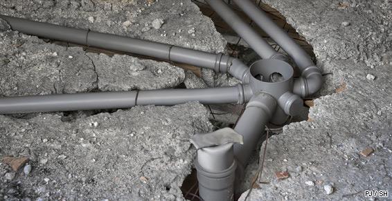 Pose de canalisations - Assainissement