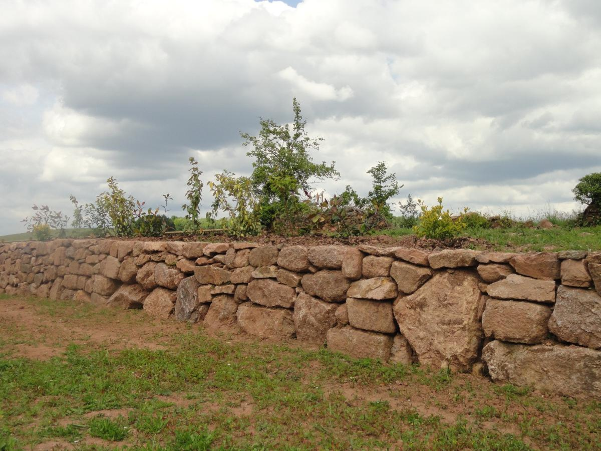 Maçonnerie en Corrèze- Rénovation de mur pierres sèches