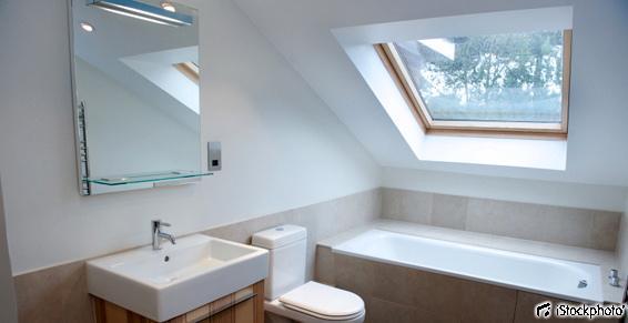 Aménagement des comble en salle de bain à Nantes