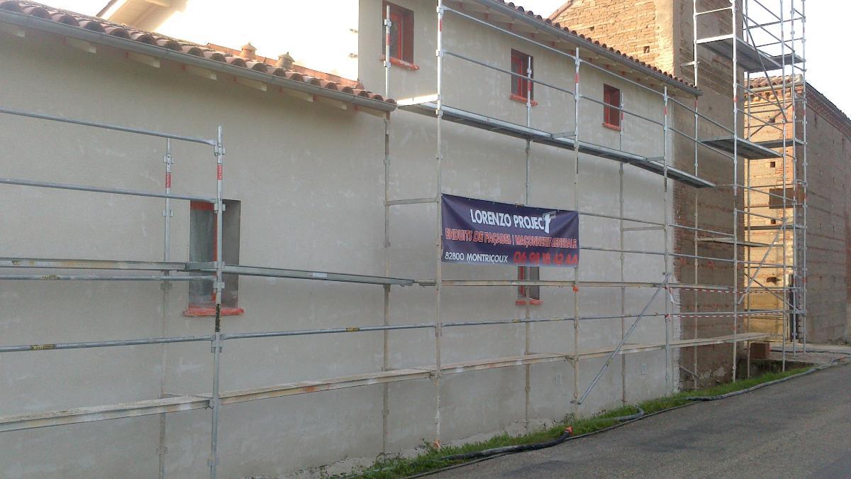 Enduit de façade près de Montauban Lorenzo Project Tarn et Garonne (82)