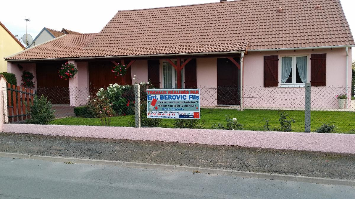 Berovic - peinture + lasure extérieure - Montluçon - Allier