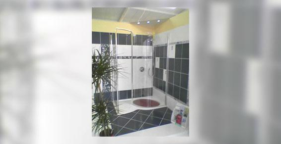 salles de bains (installation agencement) - Douche en expo