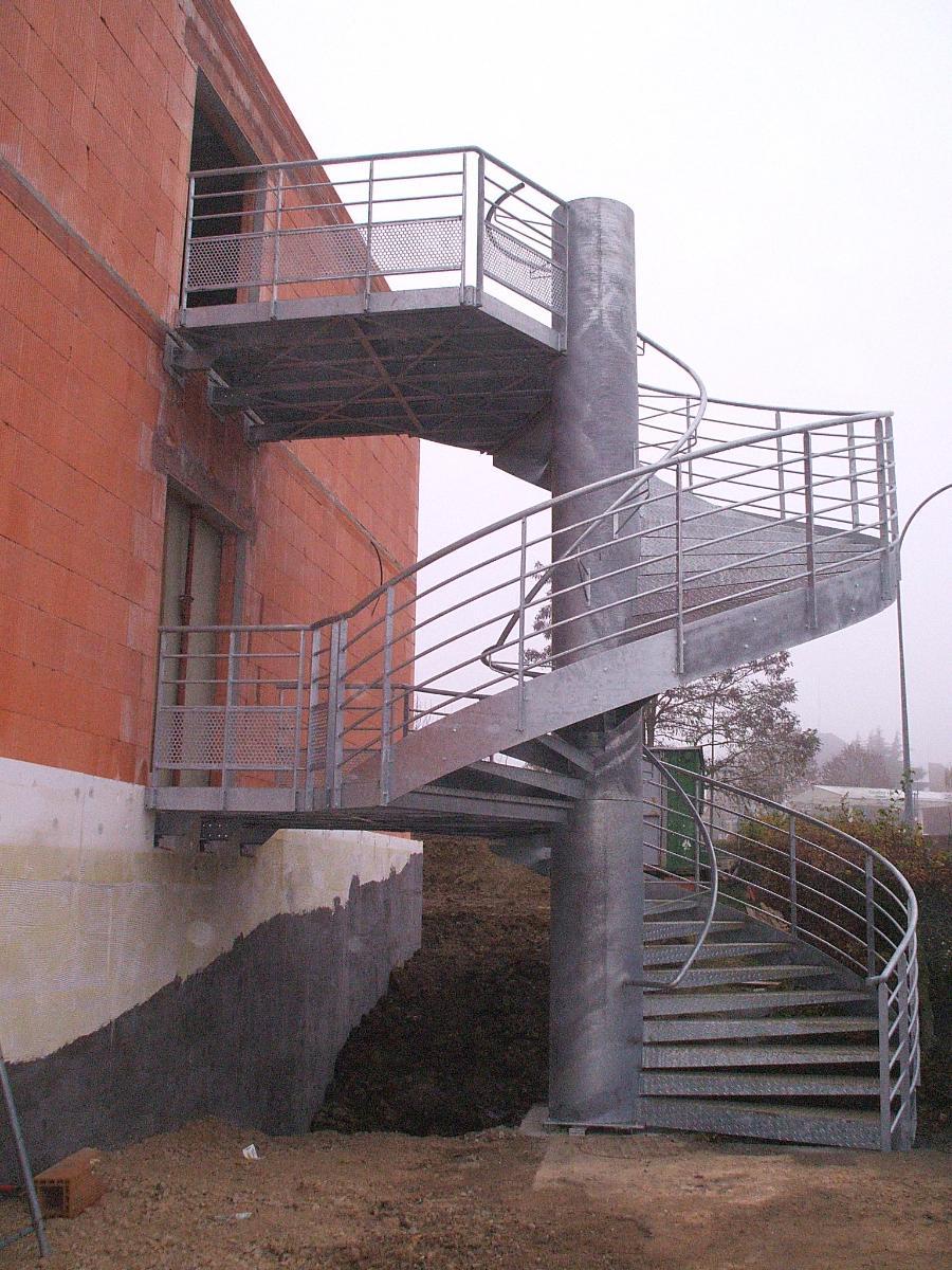 Escalier galvanisé réalisé par TMP