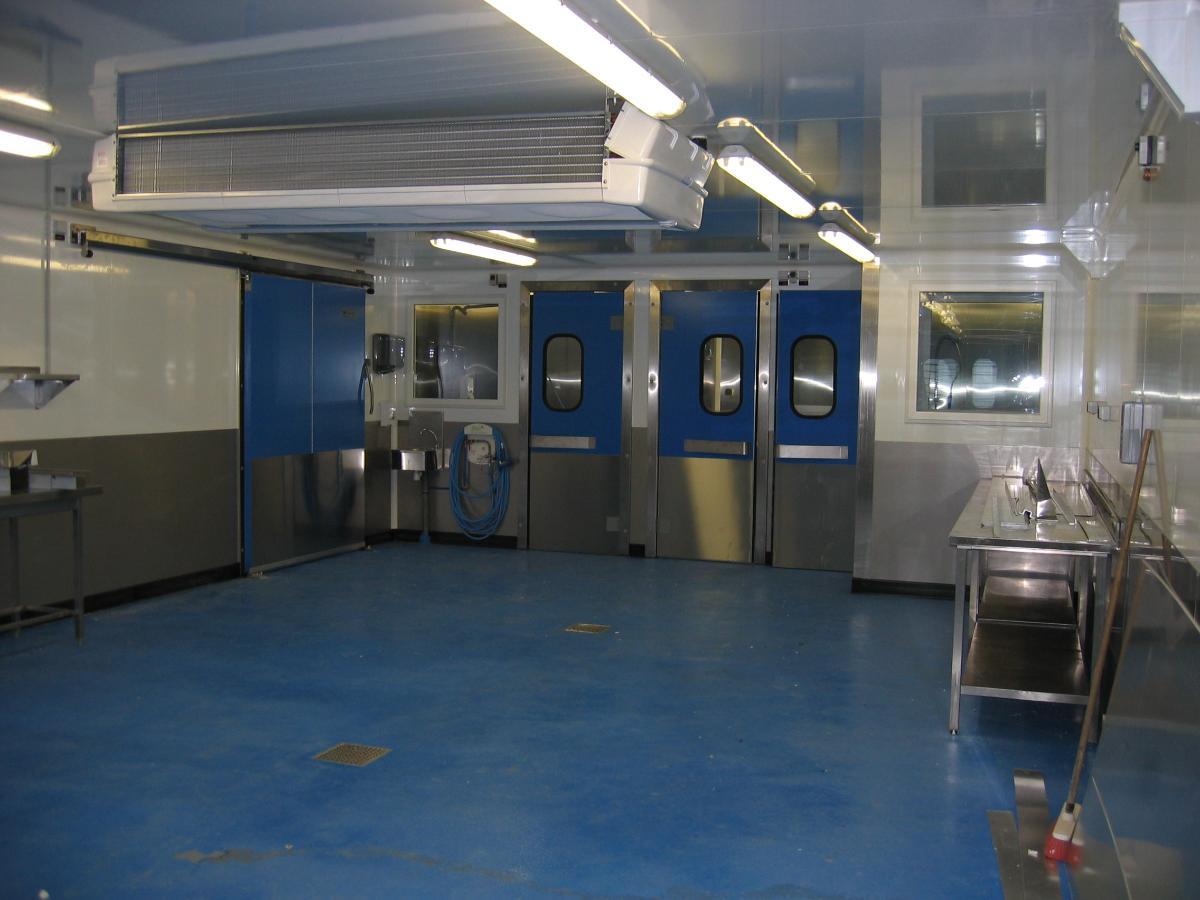 Laboratoire de préparation du poisson
