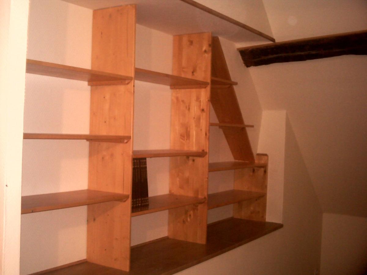 Bibliothèque en bois sur mesure sur Pau