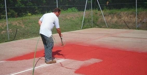 Tennis - Rénovation peinture