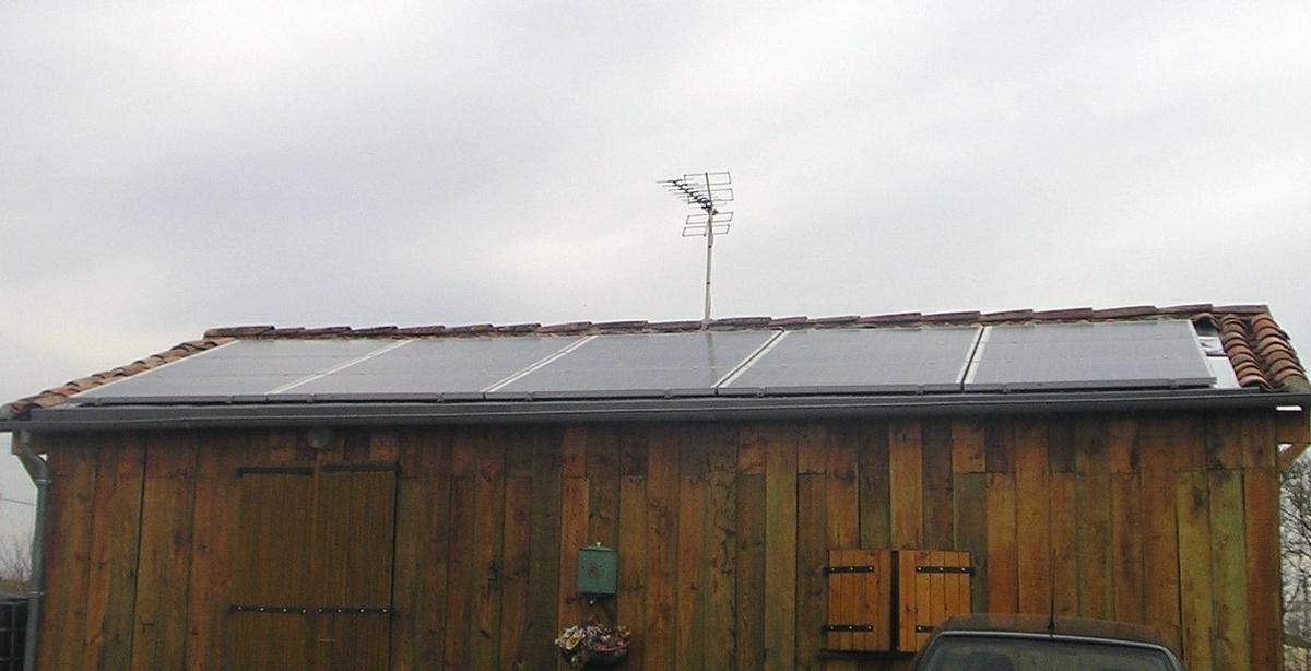 Toit photovoltaïque maison particulier