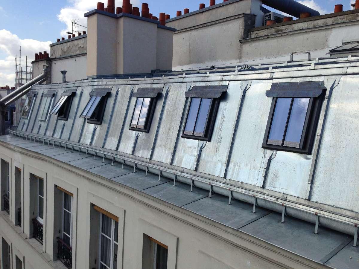 Fenêtre de toit CAST sur brisis en zinc CLV Couverture à Bourg la Reine