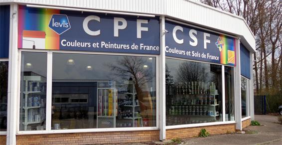 Couleurs et Peintures de France CPF à Woippy - Vitrine magasin