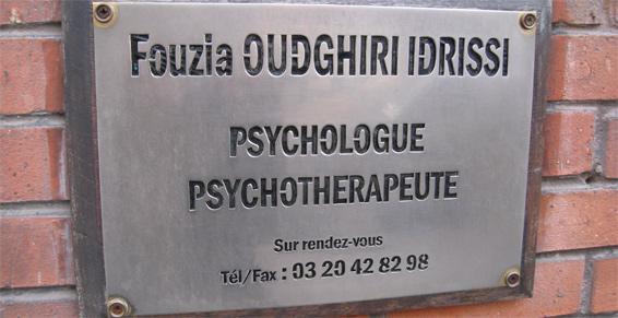 Oudghiri Idrissi Fouzia à Lille - Psychologues -  Troubles de la pensé