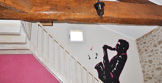 ID Déco : Cage d'escalier avec Peintures Mont-ventoux