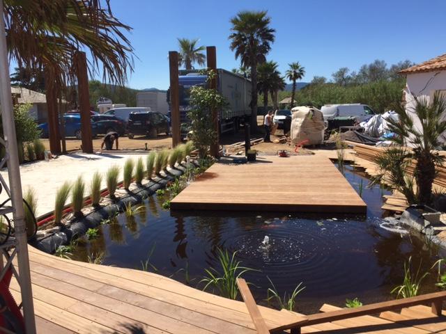 Création de bassin aquatique à Fréjus