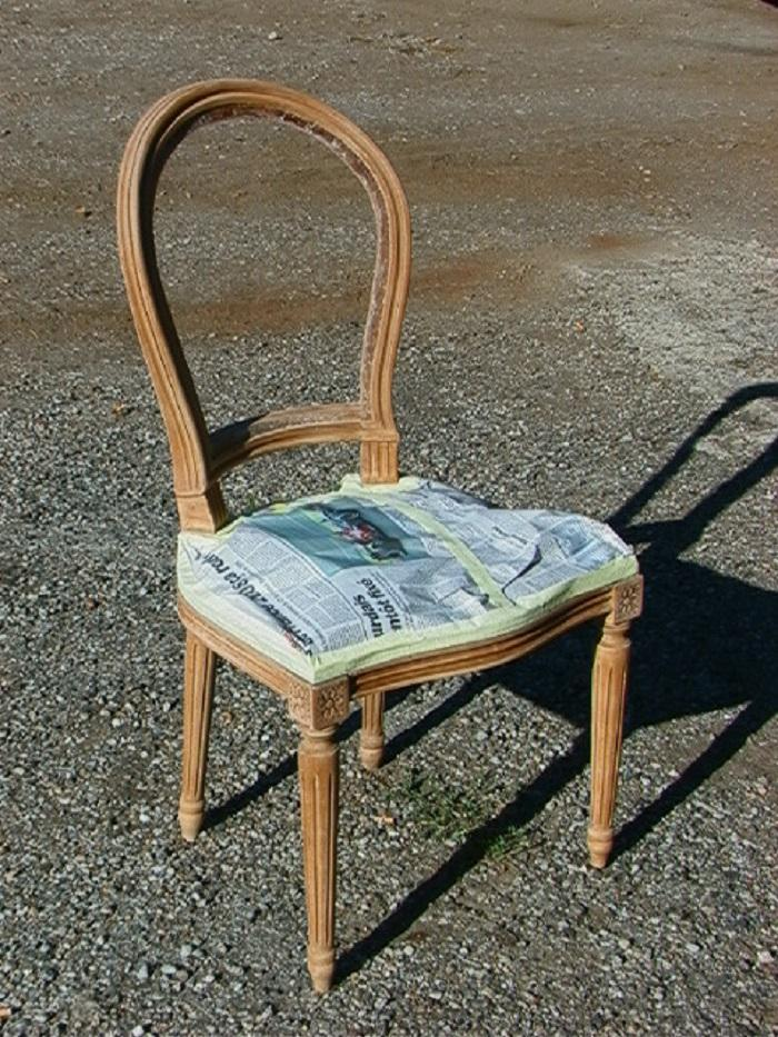 Relooking avant chaise
