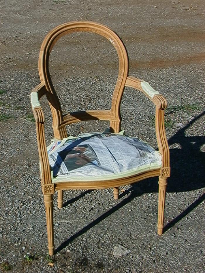 Relooking avant sur fauteuil
