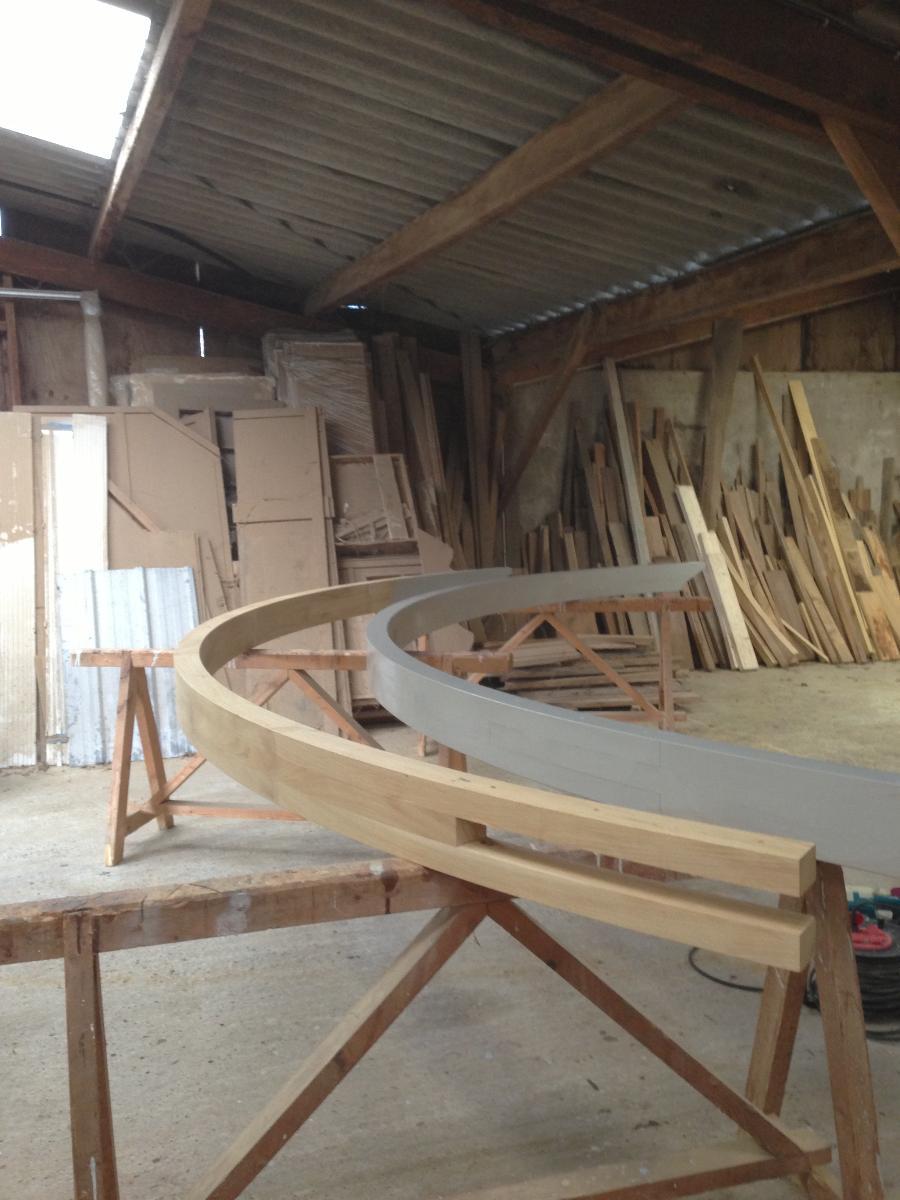 construction en atelier de la rotonde