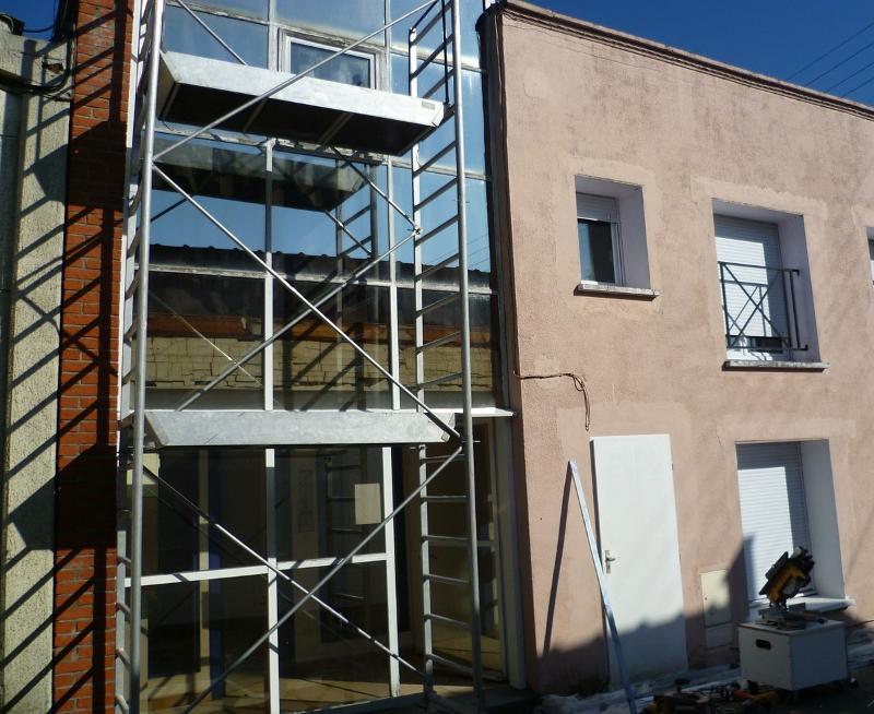 Rénovation d'une façade vitrée