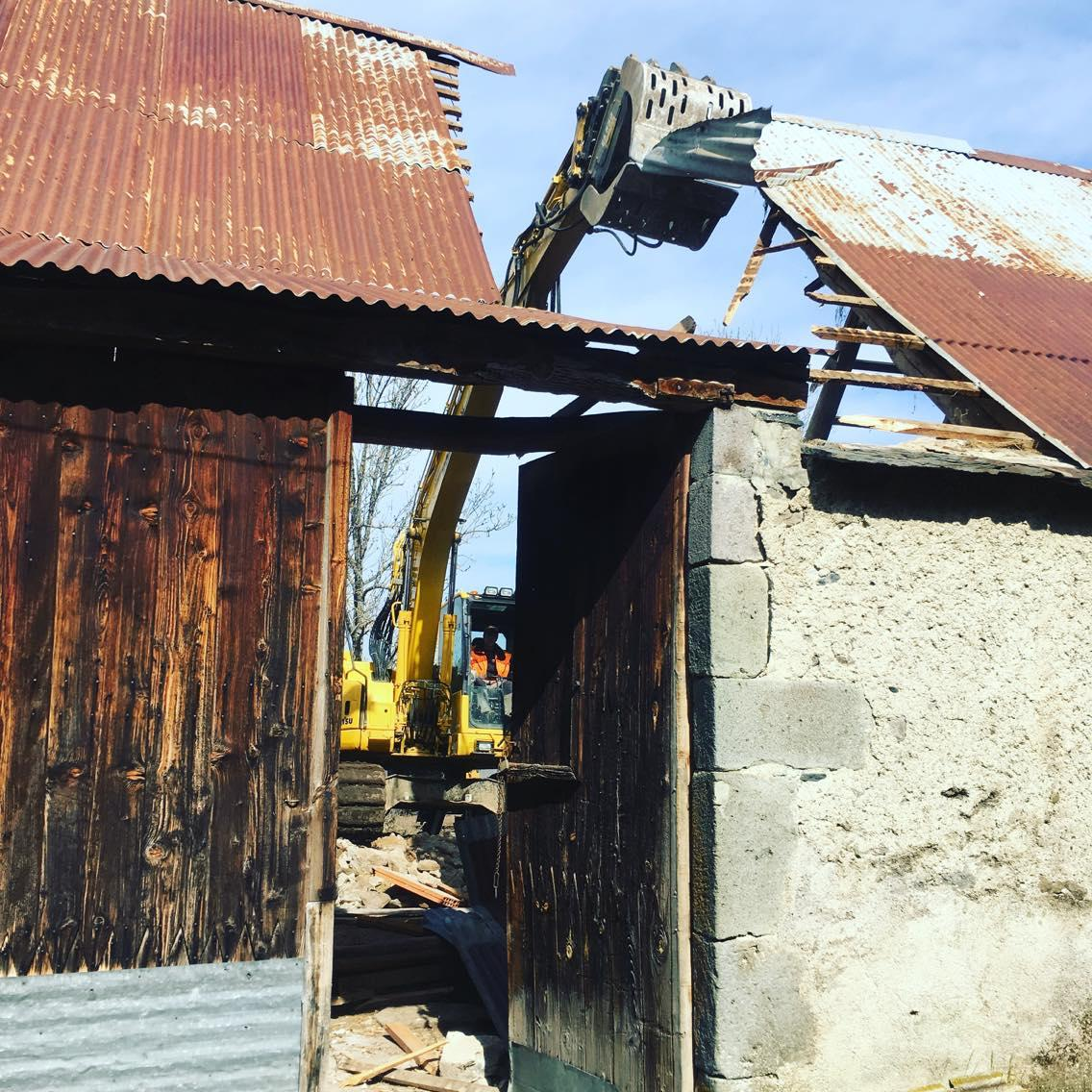 Debut d'une demolition